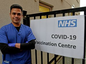 Dr Manu Agrawal at the Covid-19 Vaccination Centre