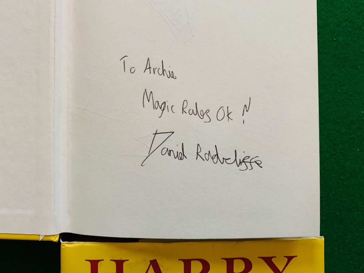 Autographed Harry Potter book in the sale. Photo: Hansons