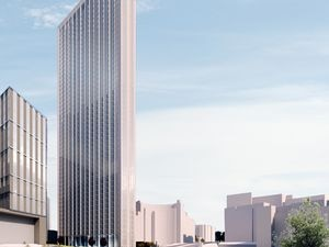 A CGI showing how the 51-storey One Eastside development will look when completed. Court Collaboration.