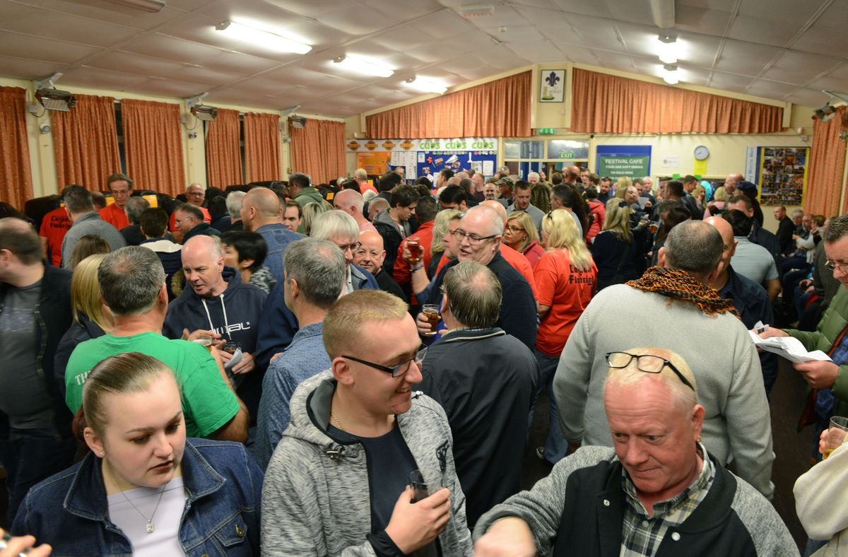 Villagers out out in force at a previous festival in the scout headquarters