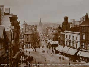 Darlington Street, viewed from Queen Square, part of reader Andrew Wright's collection of old photographs and postcards