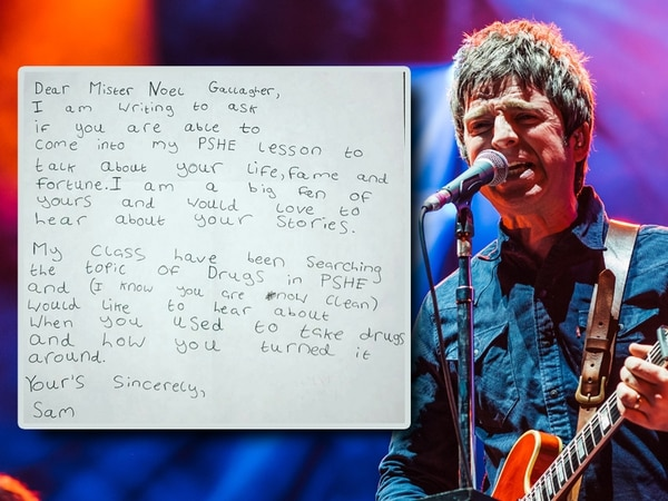 'Dear Noel, come and talk about drugs': Oasis star responds to Kinver schoolboy's letter