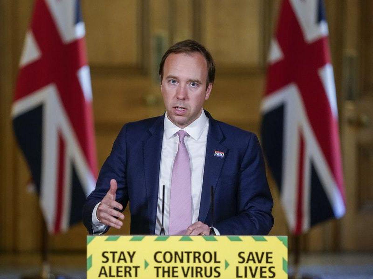 Health Secretary Matt Hancock