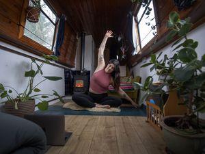 Yoga teacher Harriet McAtee