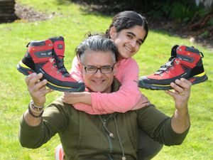 Anil Sarpal with his 11-year-old daughter Anya