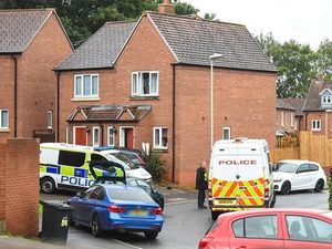 Police at the scene in Clock Tower View, in Wordsley. Photo: Snapper SK
