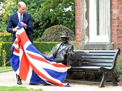 Prince William visits Stourbridge to unveil Frank Foley statue – with PICTURES and VIDEO