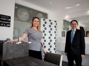 Sasha White (salon owner) and David Grove (FBC Manby Bowdler)
