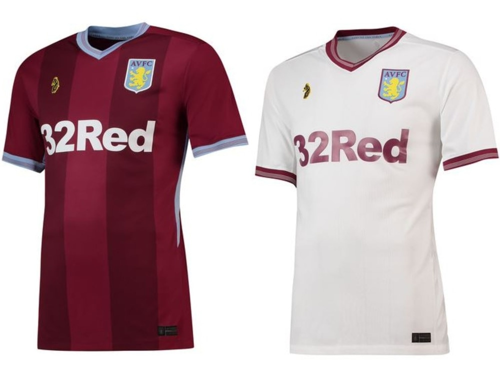 premium selection 8027b 6ae07 Aston Villa unveil new home and away 2018/19 kit | Express ...