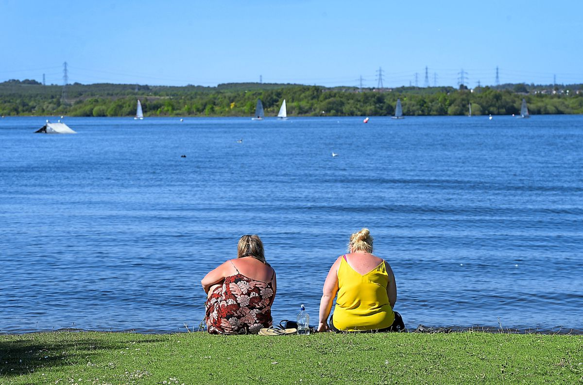 Relaxation at the waterside at Chasewater which has seen visits gradually increase again