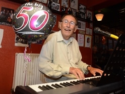 Pianist Reg celebrates 50 years of playing at Bilston's Trumpet
