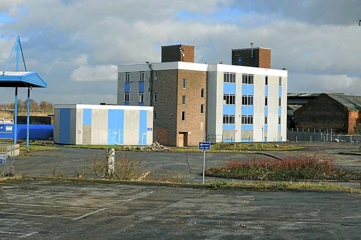 The site of the new Midland Metropolitan Hospital, Smethwick, where the area is being cleared for development.