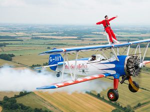The wing walking event