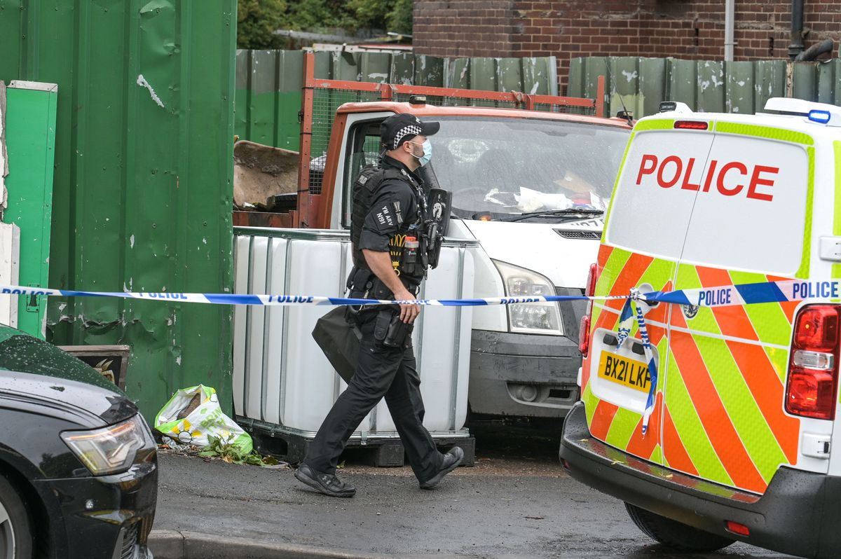 Armed police were also sent to the house. Photo: SnapperSK