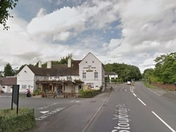 Man in hospital after crash outside Dudley Arms pub