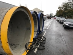 Huge concrete cylinders fall from lorry blocking busy Wolverhampton route