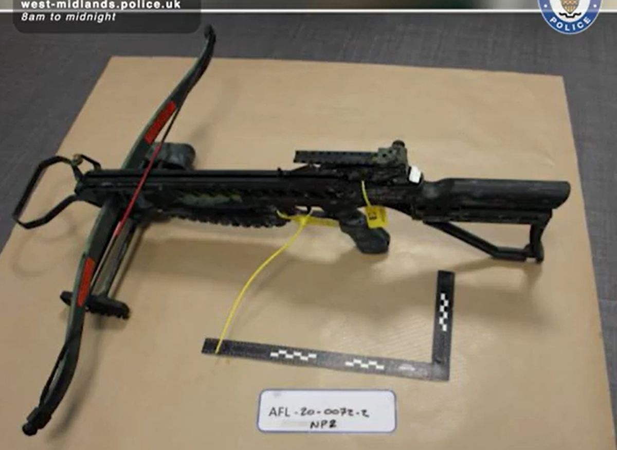 The crossbow that fired the deadly shots, after being seized by police