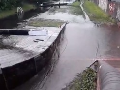 Canal locks closed off overnight after vandals cause flood