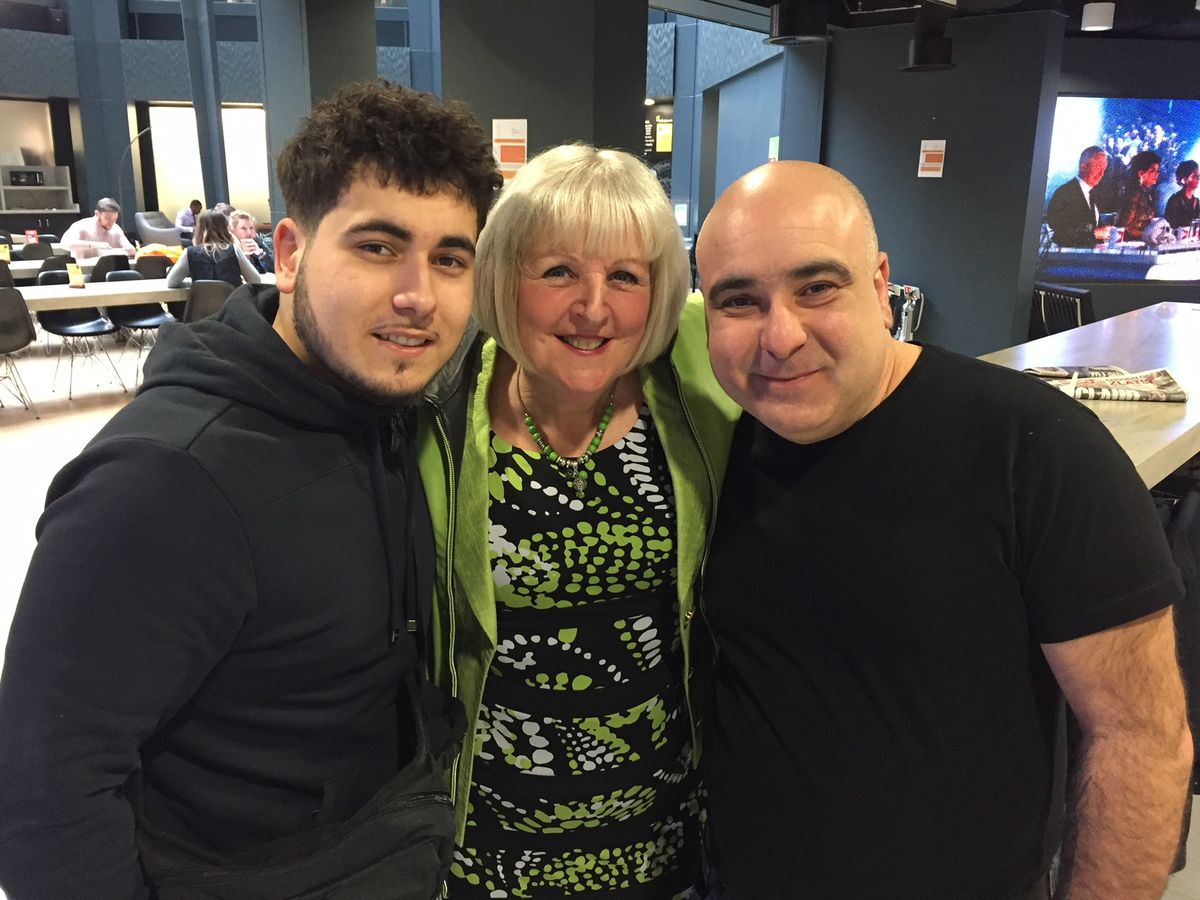 Jean with fellow Britain's Got Talent stars and father-son dance duo Stavros Flatley