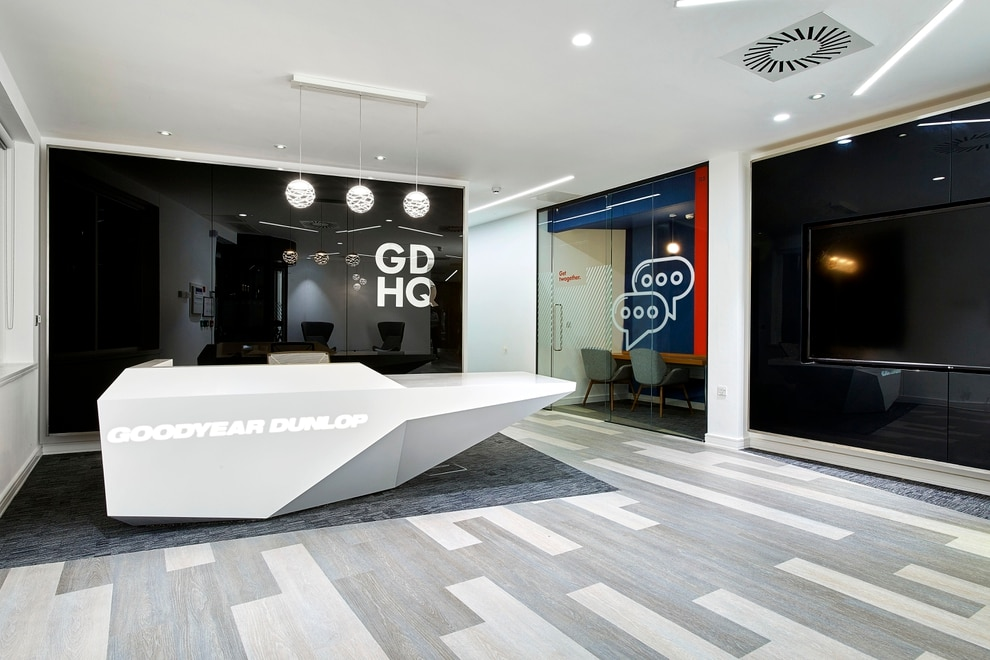 The Reception Area At New Goodyear Dunlop Headquarters