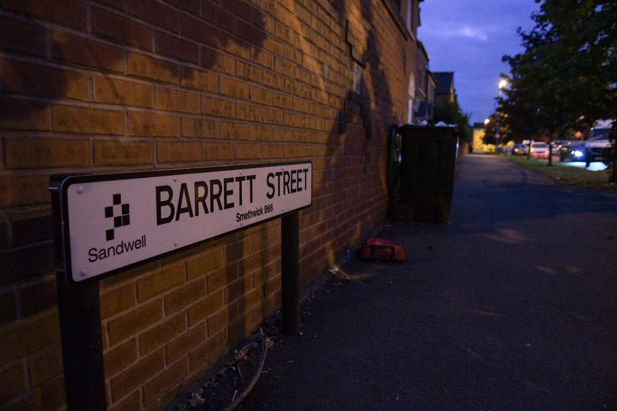 The shooting took place in Barrett Street, Smethwick, on Wednesday afternoon. Photo: SnapperSK