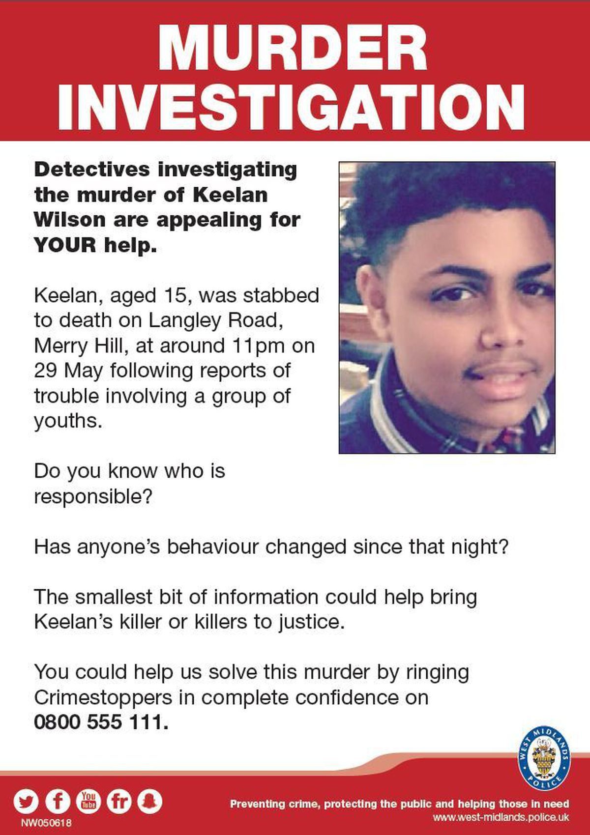 A police poster