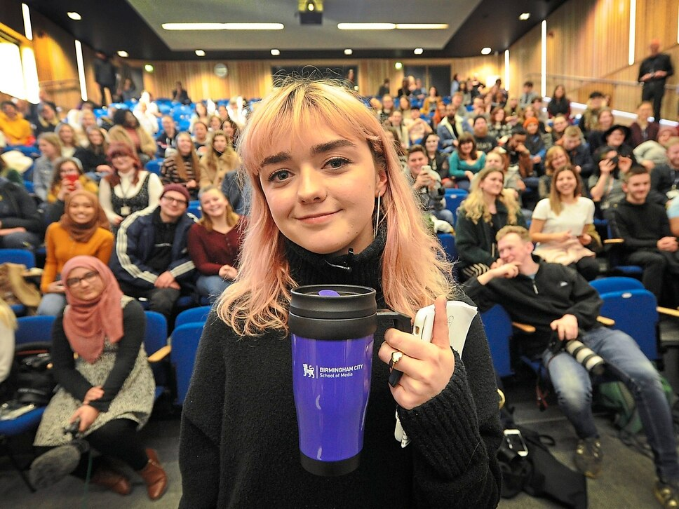 WATCH: Game Of Thrones star Maisie Williams visits Birmingham City University