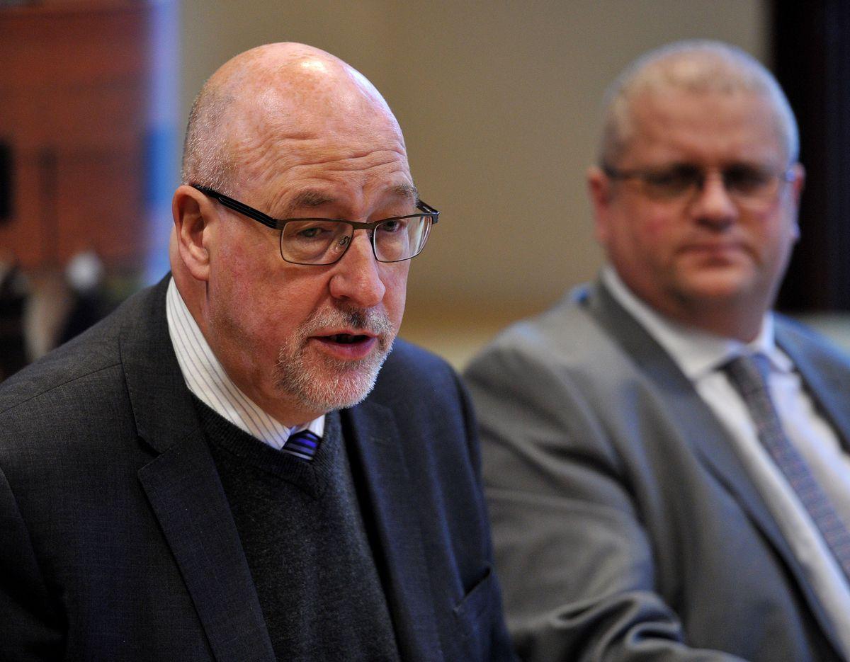 Councillor Lee Jeavons, right, endorsed Councillor Coughlan's nomination