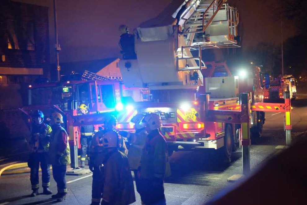Pictures And Video Cordon Imposed As Arson Attack Blaze