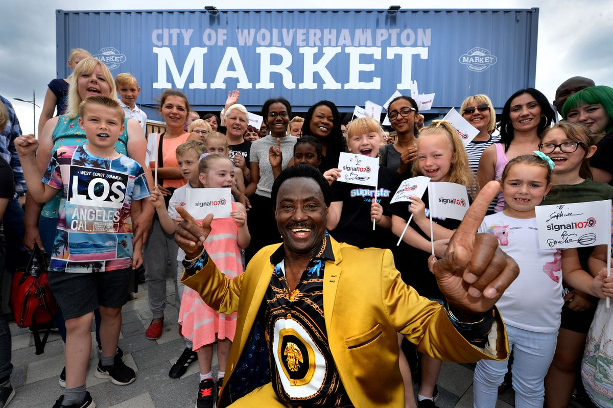 Wolverhampton Market, Cleveland Street Official launch of the new market. Celebrity chef Jean-Christophe Novelli cooking from .PICTURED , Britian's Got Talent finalist Donchez Dacres, from Wolverhampton....