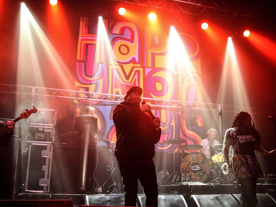 Happy Mondays playing at the O2 Institute in Birmingham last year