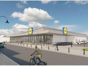 An artist's impression of how the new Lidl superstore in High Street, Bilston, will look. Image: Whittam Cox Architects
