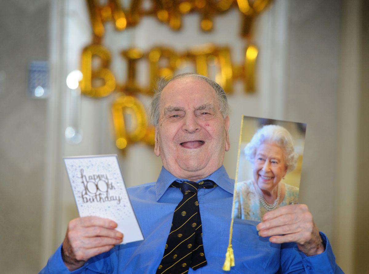 Gordon Garbett celebrating his 100th birthday