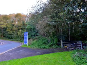 The entrance to the proposed site off Gorsebrook Road in Wolverhampton