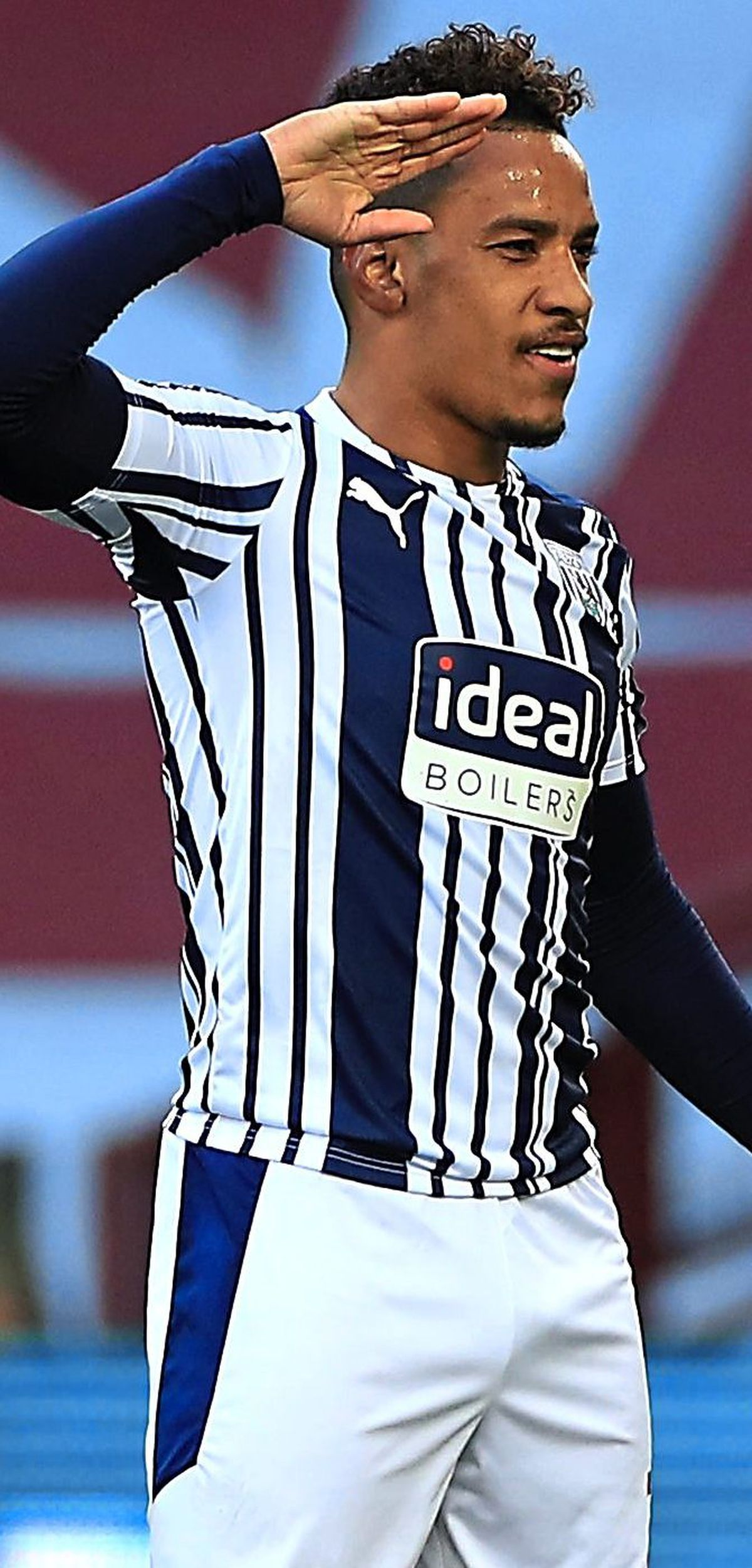 """West Bromwich Albion's Matheus Pereira celebrates scoring their side's first goal of the game during the Premier League match at Villa Park, Birmingham. Picture date: Sunday April 25, 2021. PA Photo. See PA story SOCCER Villa. Photo credit should read: Mike Egerton/PA Wire.   RESTRICTIONS: EDITORIAL USE ONLY No use with unauthorised audio,  video, data, fixture lists, club/league logos or """"live"""" services. Online in-match use limited to 120 images, no video emulation. No use in betting, games or single club/league/player publications."""