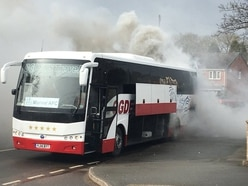 Football team's coach catches fire en-route to Hednesford game