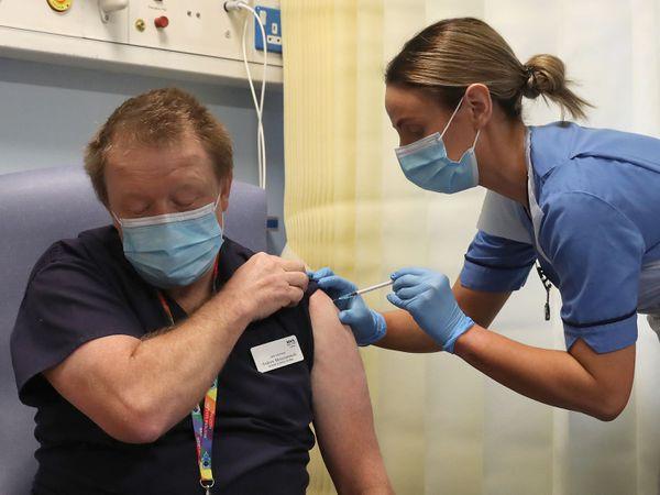 Coronavirus vaccine administered