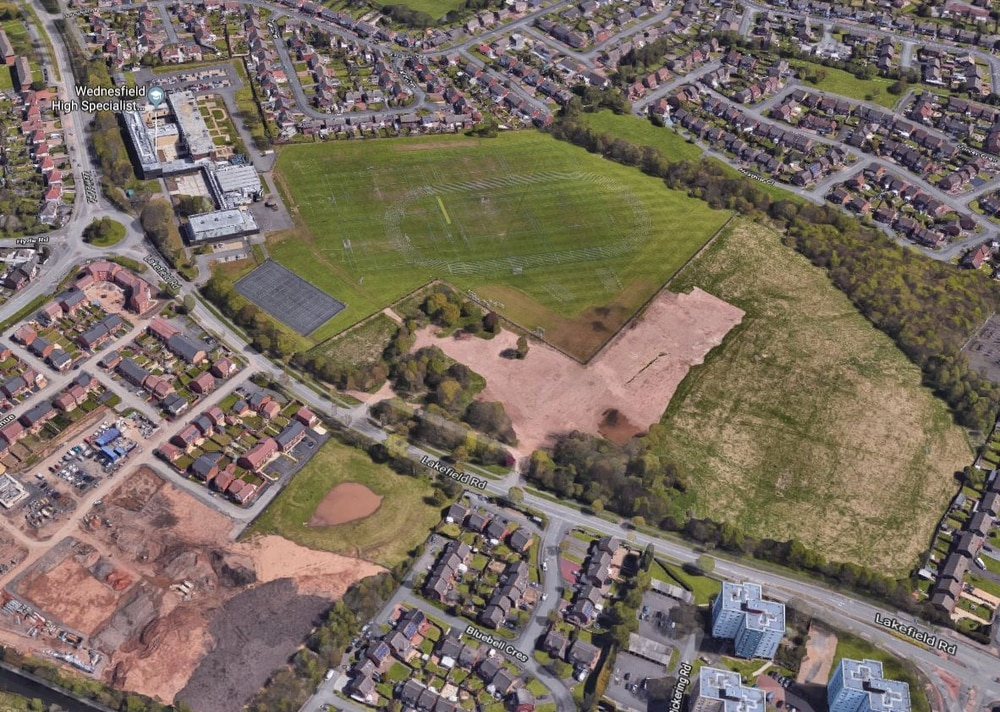 e17452cf New homes are due to be built on land near Wednesfield High School,  pictured top left. Picture: Google