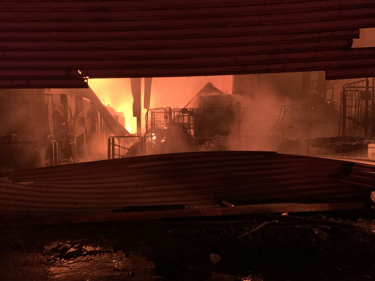 Fire crews tackling the blaze in MacDonald Street, Birmingham. Photo: West Midlands Fire Service