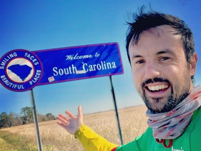 Adventureman 'counting down' to finish line on US coast-to-coast run