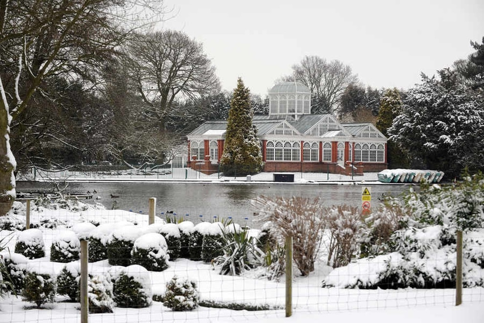 West Park In The Snow