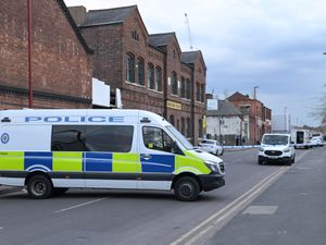 Police at the scene in Western Road in Birmingham. Photo: @SnapperSK