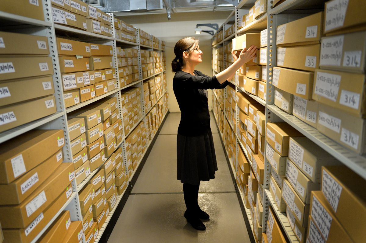 Wolverhampton senior archivist Heidi Mcintosh at Wolverhampton City Archives