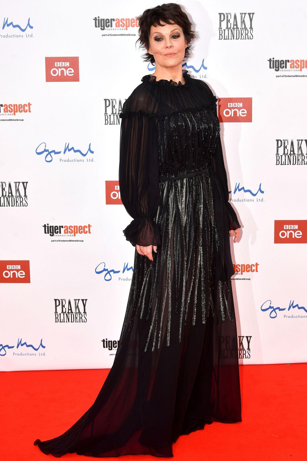 Helen McCrory attending the Peaky Blinders Series Five World Premiere held at Birmingham Town Hall