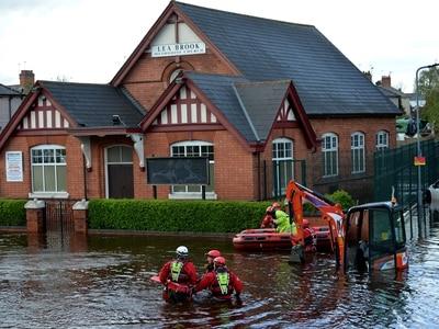 Wednesbury flood: Water levels drop as emergency work continues