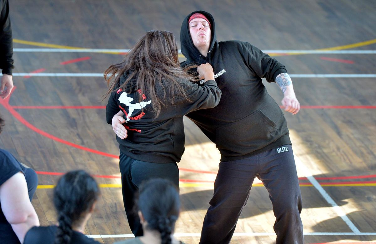Students were taught self-defence skills