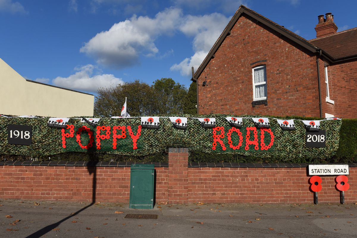 More decorations in place in 'Poppy Road'