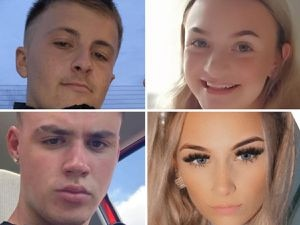 Clockwise from top left, Joshua Parkes, Isabelle Floyd, Lucy Tibbetts and Nathan Cartwright.