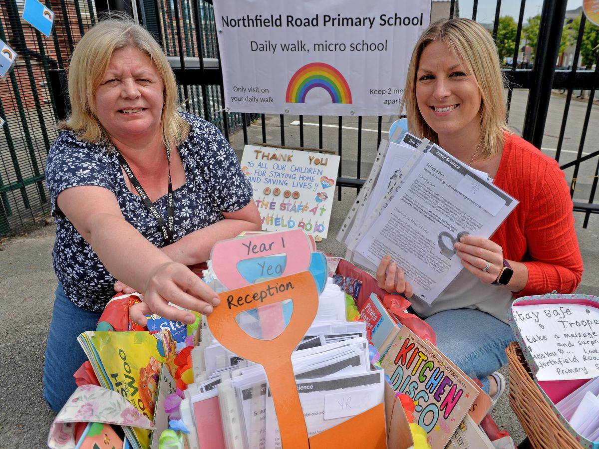 Northfield Road Primary School in Netherton's micro-school to support parents, Nicola Bennett, headteacher and Samantha Bushell, deputy