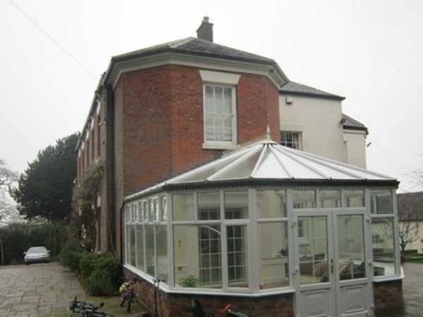 1980s conservatory to be replaced with traditional orangery at Stafford hall